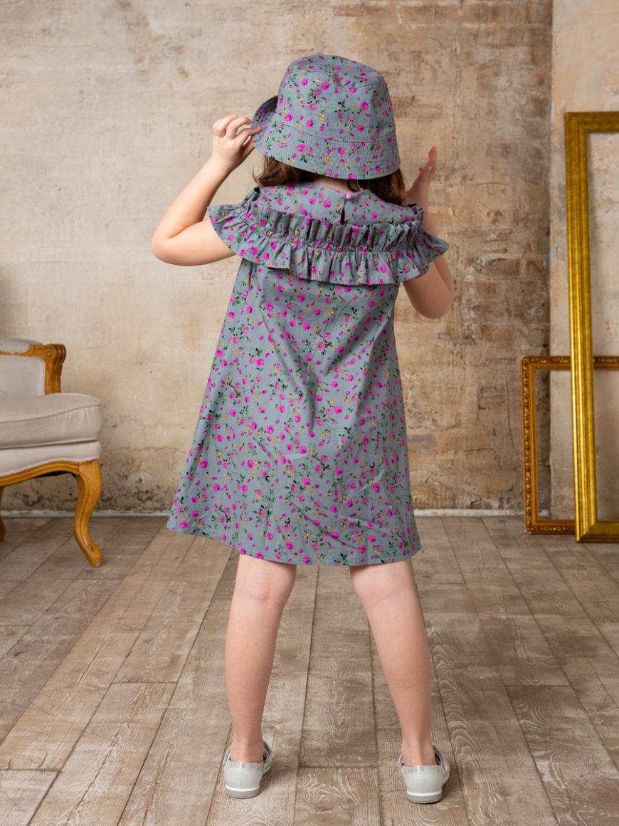 Платье для девочки серое