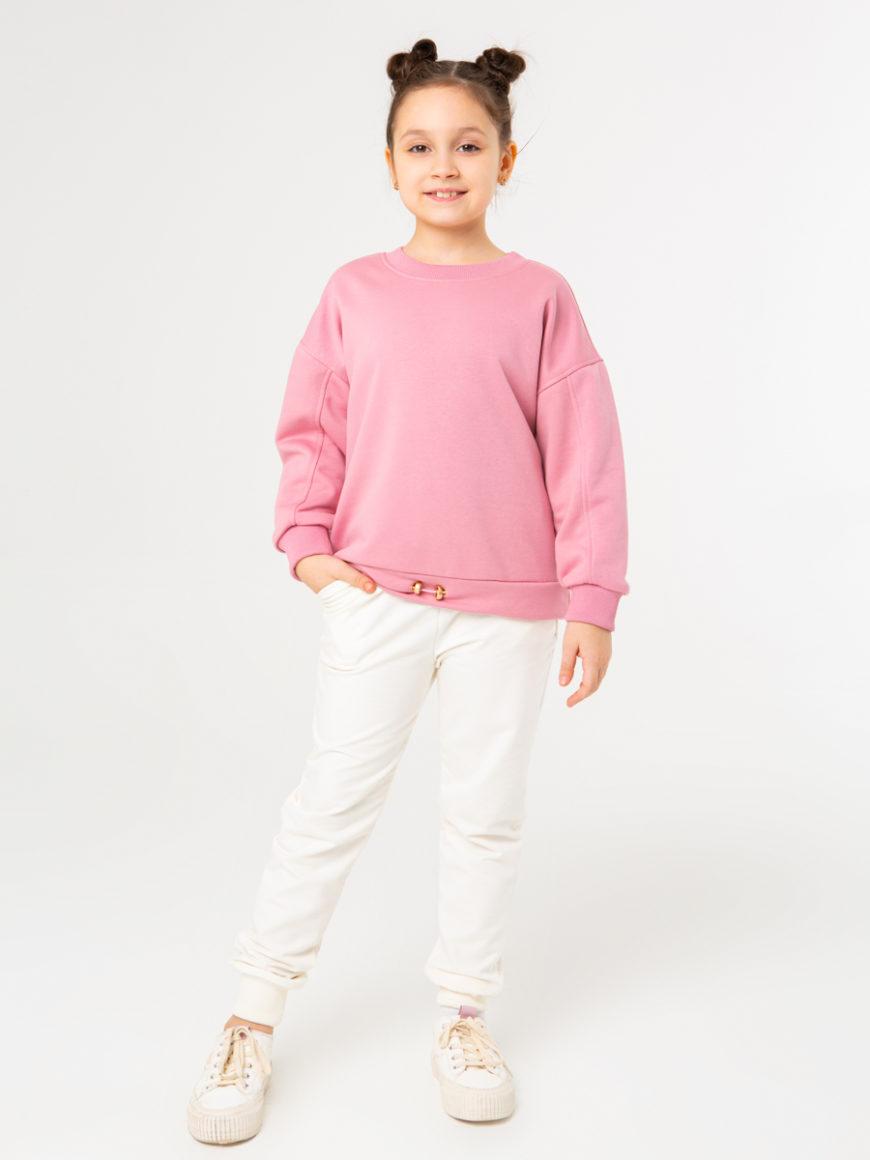 Свитшот детский розовый